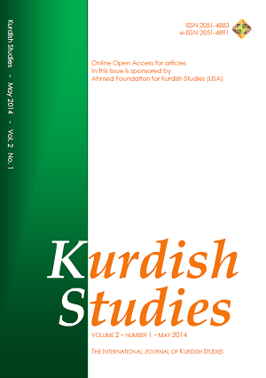 Kurdish Studies Vol 2 No 1