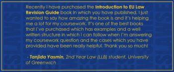 Reader testimonial EU Law